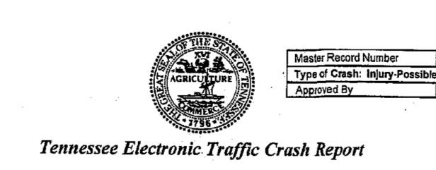 TN Traffic Crash Report Graffic